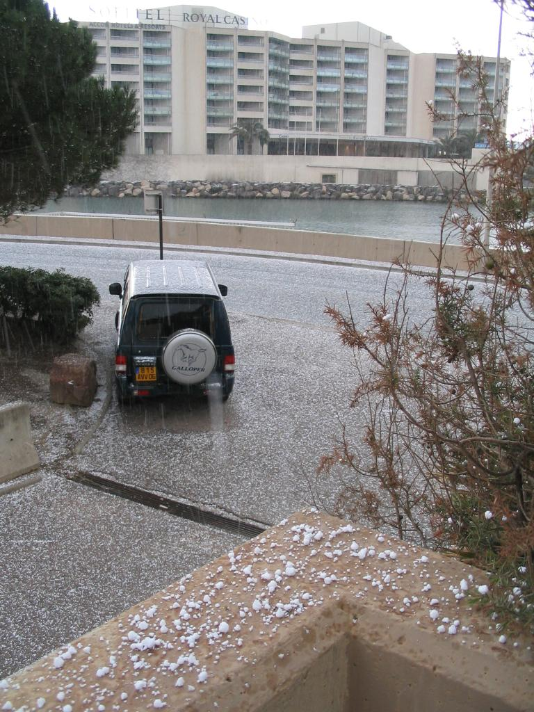 Snow in Mandelieu